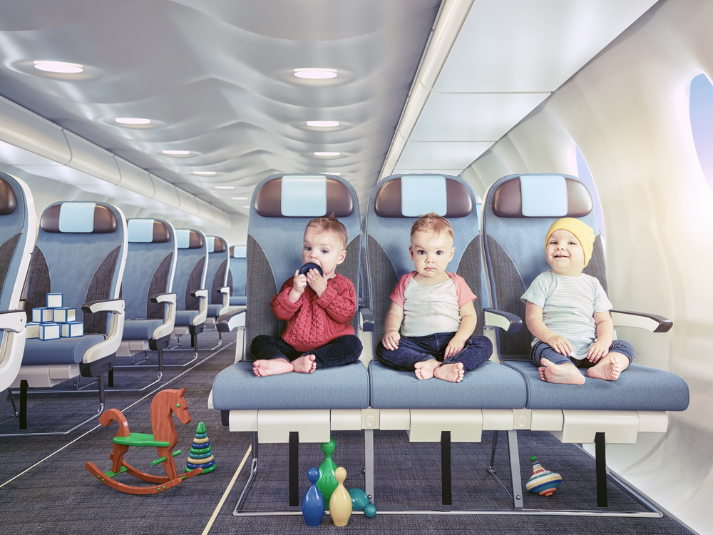 baby in plane